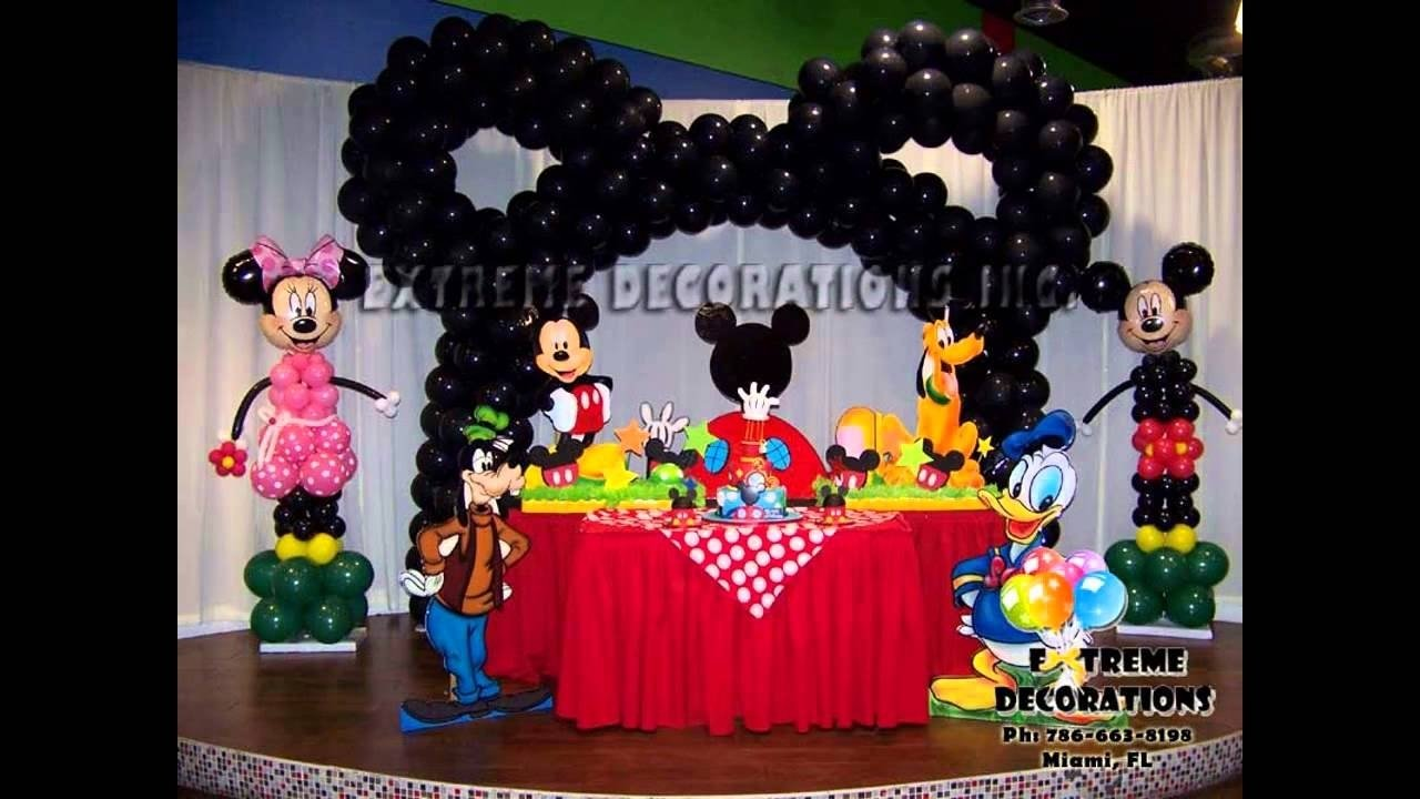 best mickey mouse clubhouse birthday party decoration - youtube