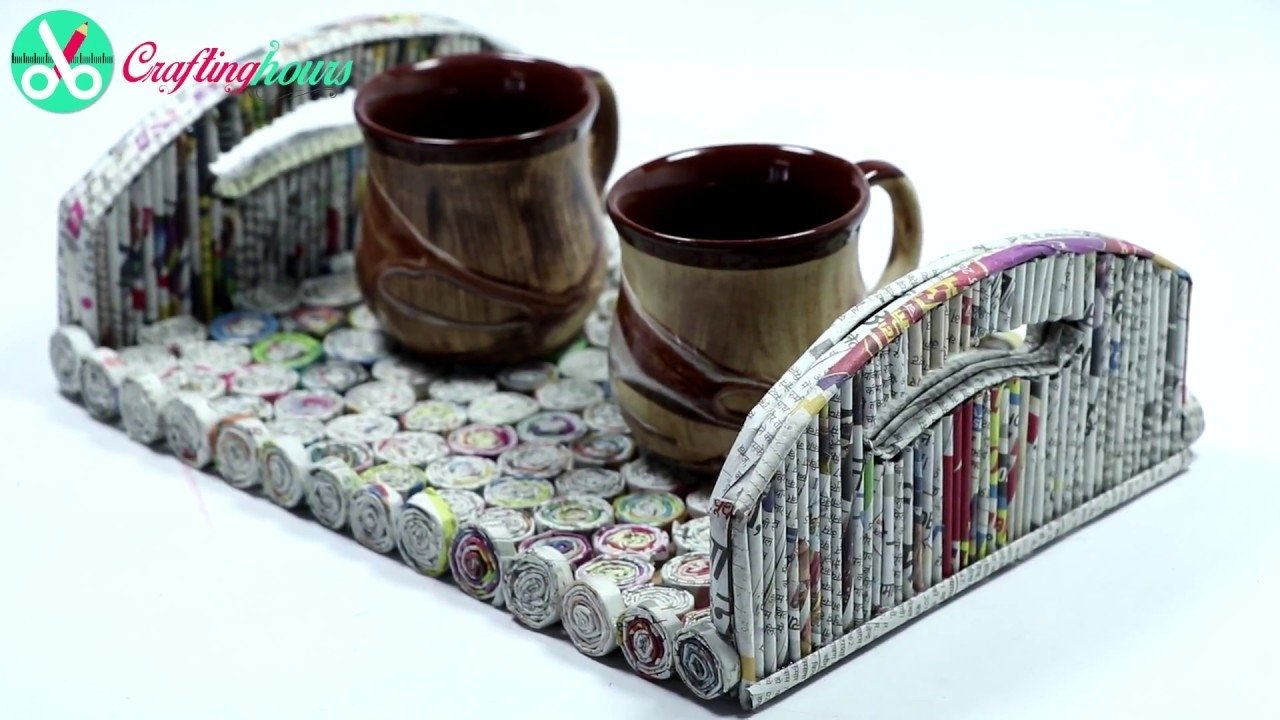 10 Attractive Best Out Of Waste Ideas best out of waste ideas how to make serving tray with newspaper