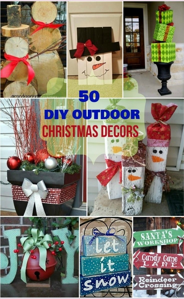10 fantastic homemade outdoor christmas decorations ideas best outdoor christmas decorating ideas i love pink yard - Homemade Outdoor Christmas Decorations