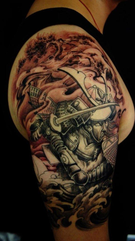 10 Perfect Unique Tattoo Ideas For Men best samurai tattoo designs samurai lotus half sleeve samurai