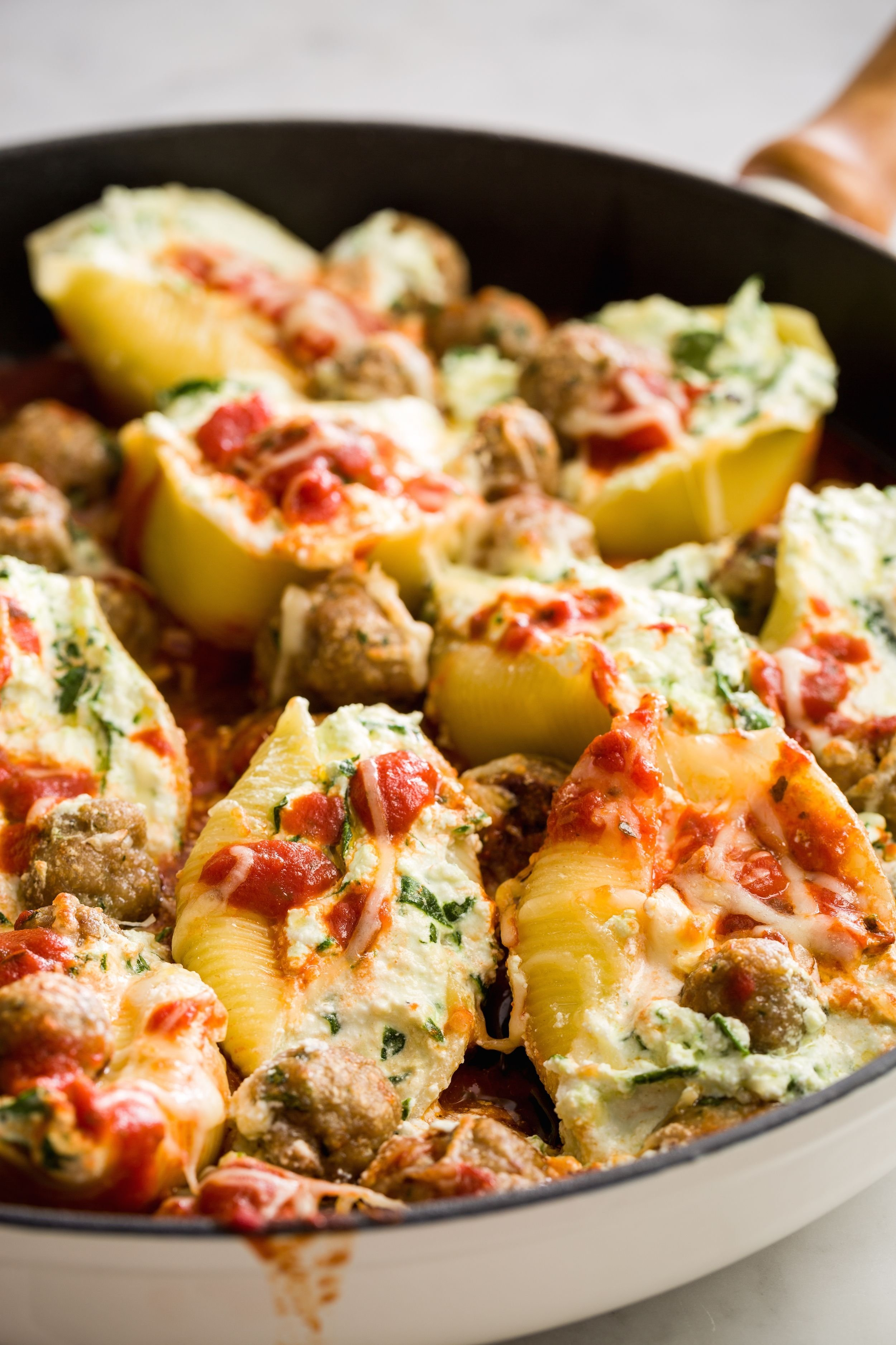 best stuffed shells with turkey meatballs - best stuffed shells with