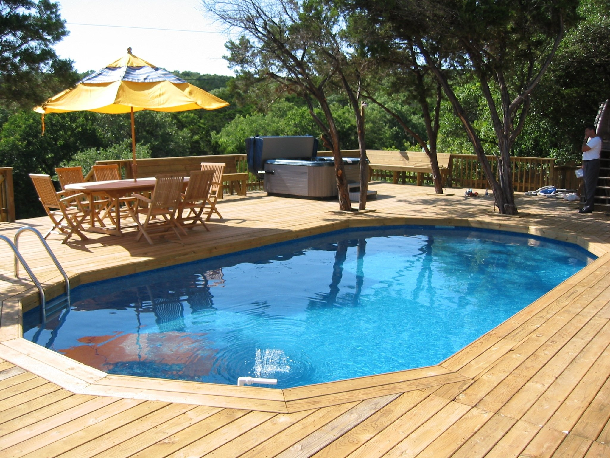 10 Stylish Pool Deck Ideas Above Ground best swimming pool deck ideas above ground loversiq