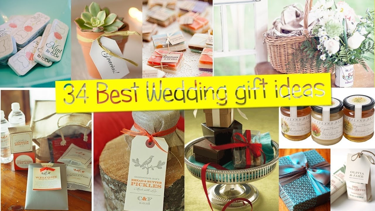 best wedding gift ideas for guests - youtube | cheap wedding gifts