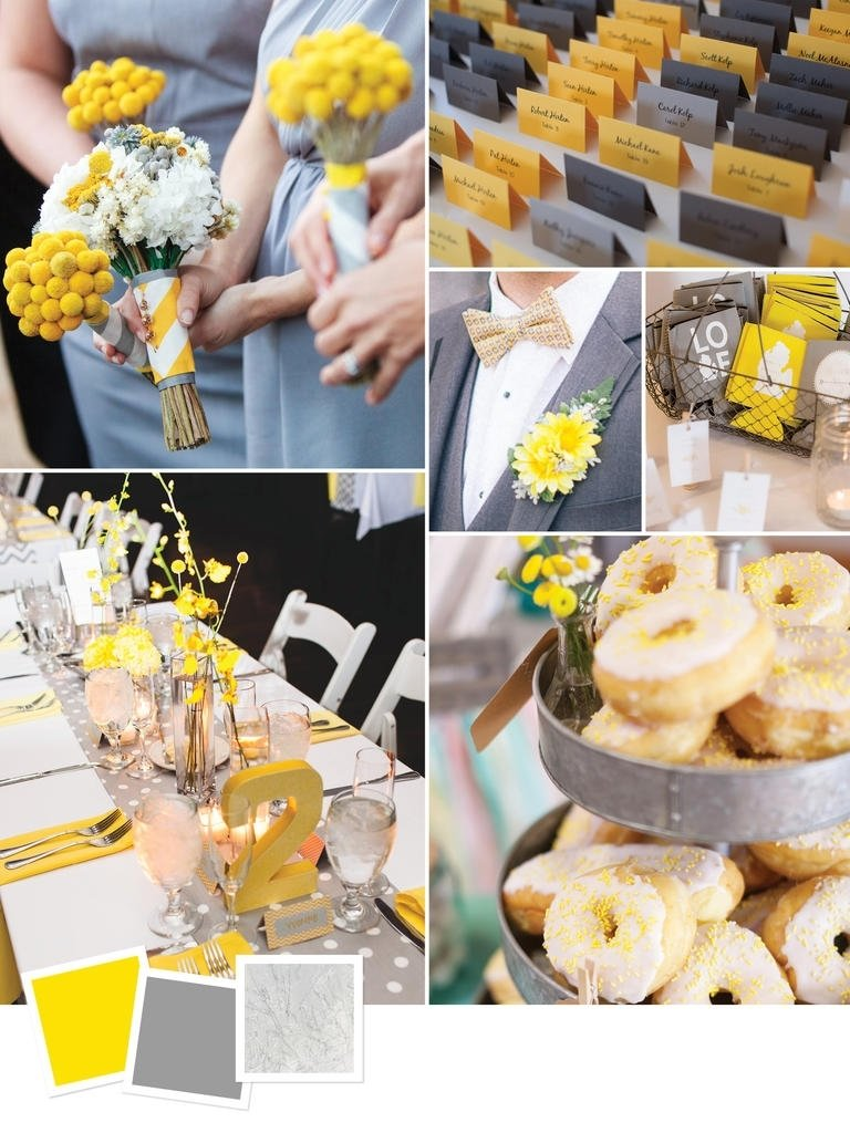 10 Cute Yellow And Gray Wedding Ideas best wedding ideas all about party for wedding best color ideas 1