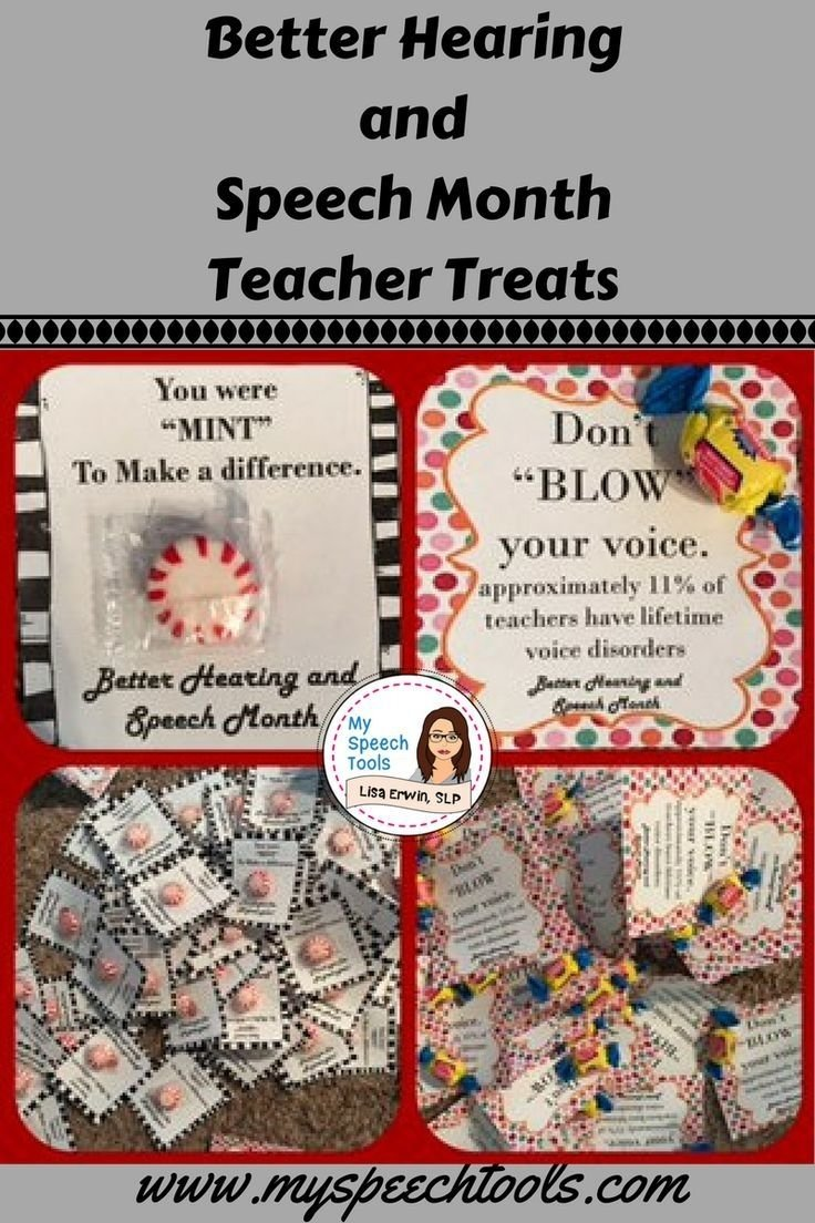 10 Beautiful Better Speech And Hearing Month Ideas better hearing and speech month treats for teachers and staff 2021