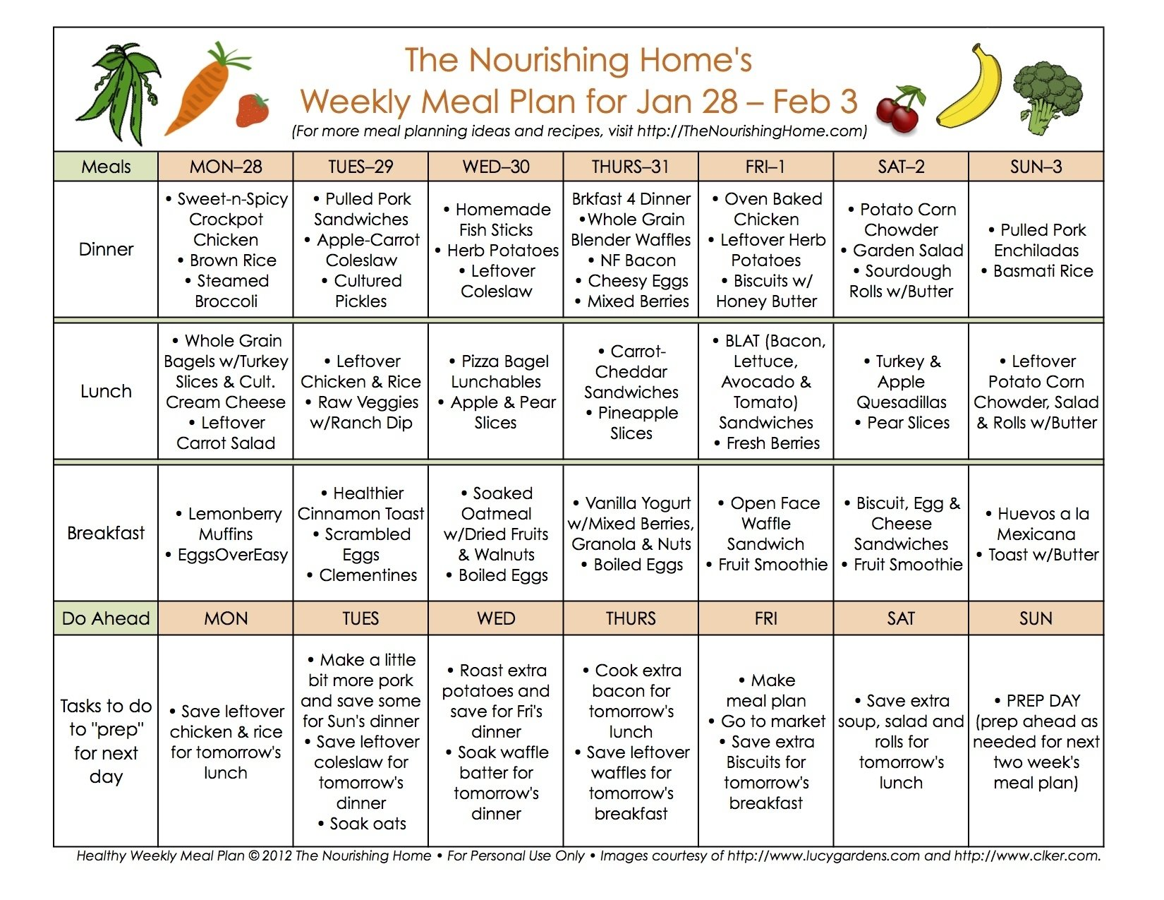 10 Fantastic Healthy Menu Ideas For The Week bi weekly meal plan for january 21 february 3 weekly meal plans 2020