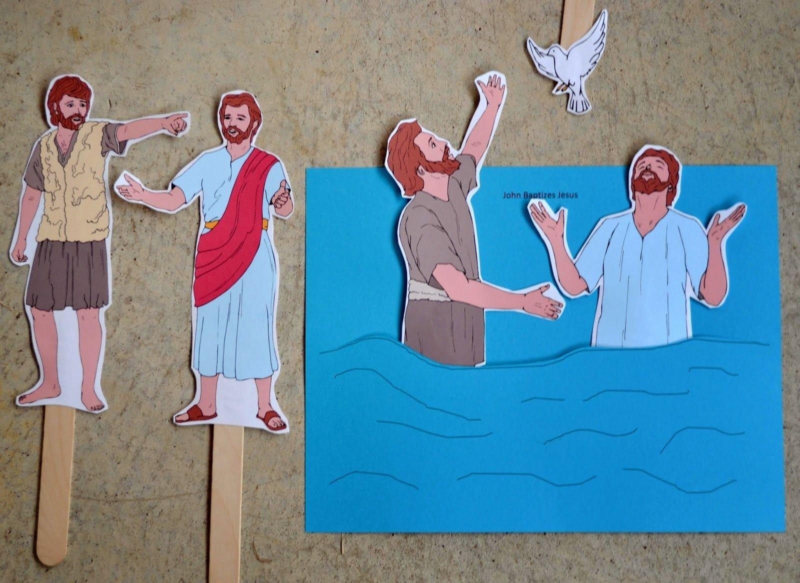 10 Elegant John The Baptist Craft Ideas bible fun for kids preschool alphabet w is for water jesus is