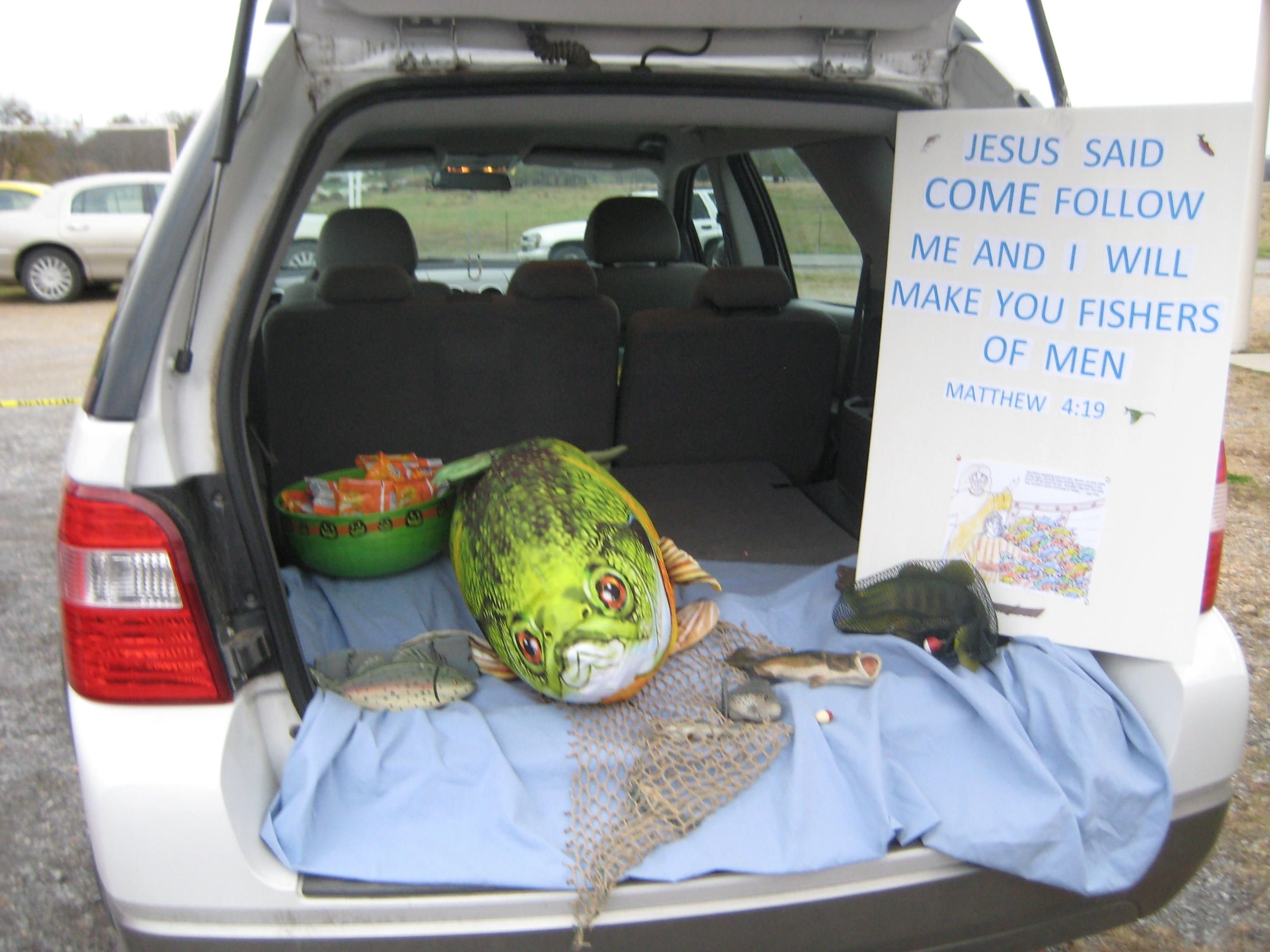 10 Ideal Christian Trunk Or Treat Ideas bible story trunk or treat fishers of men matthew 419 goldfish 5 2020
