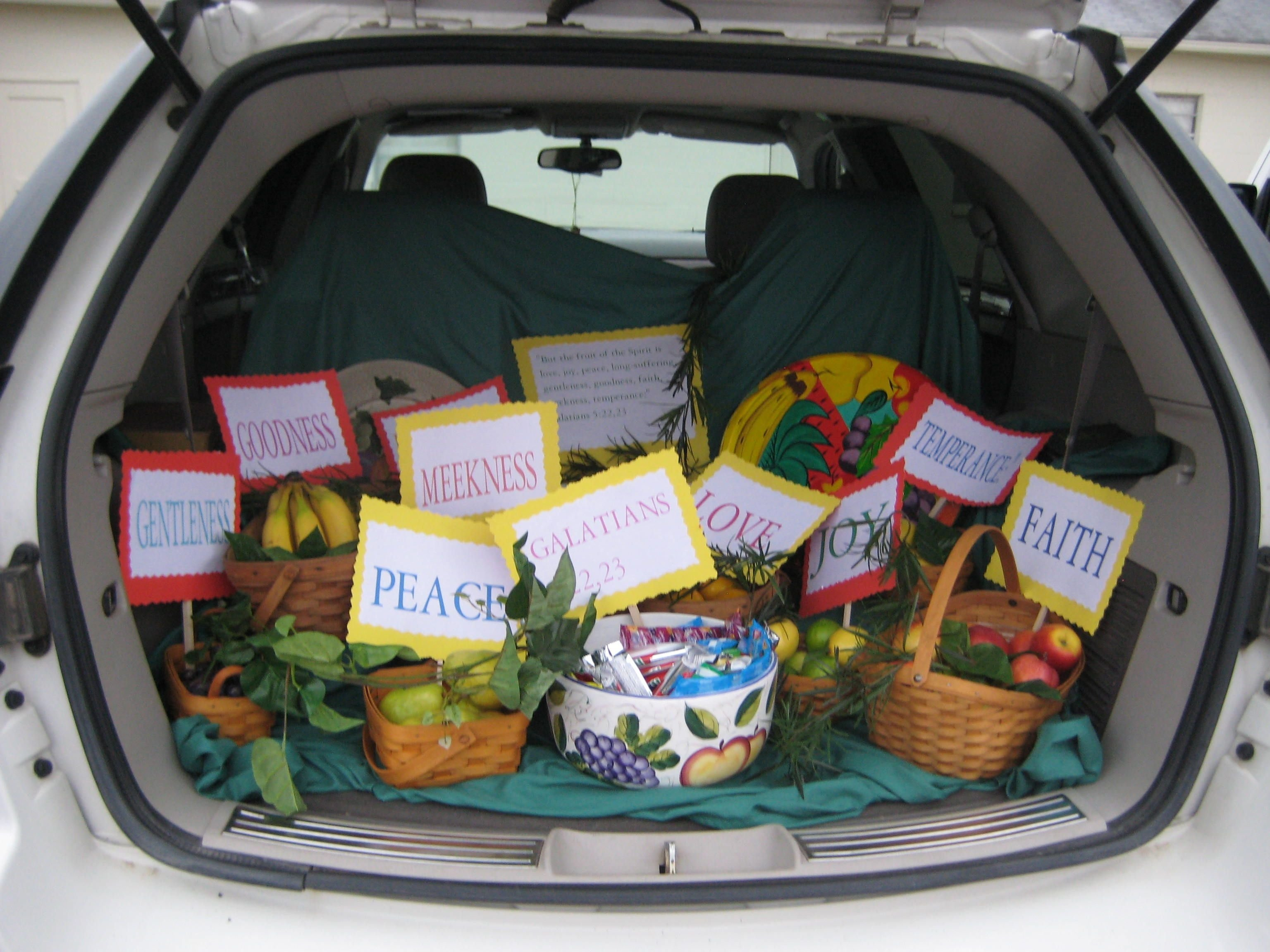 10 Attractive Biblical Trunk Or Treat Decorating Ideas bible story trunk or treat fruits of the spirit galatians 52223 1 2020