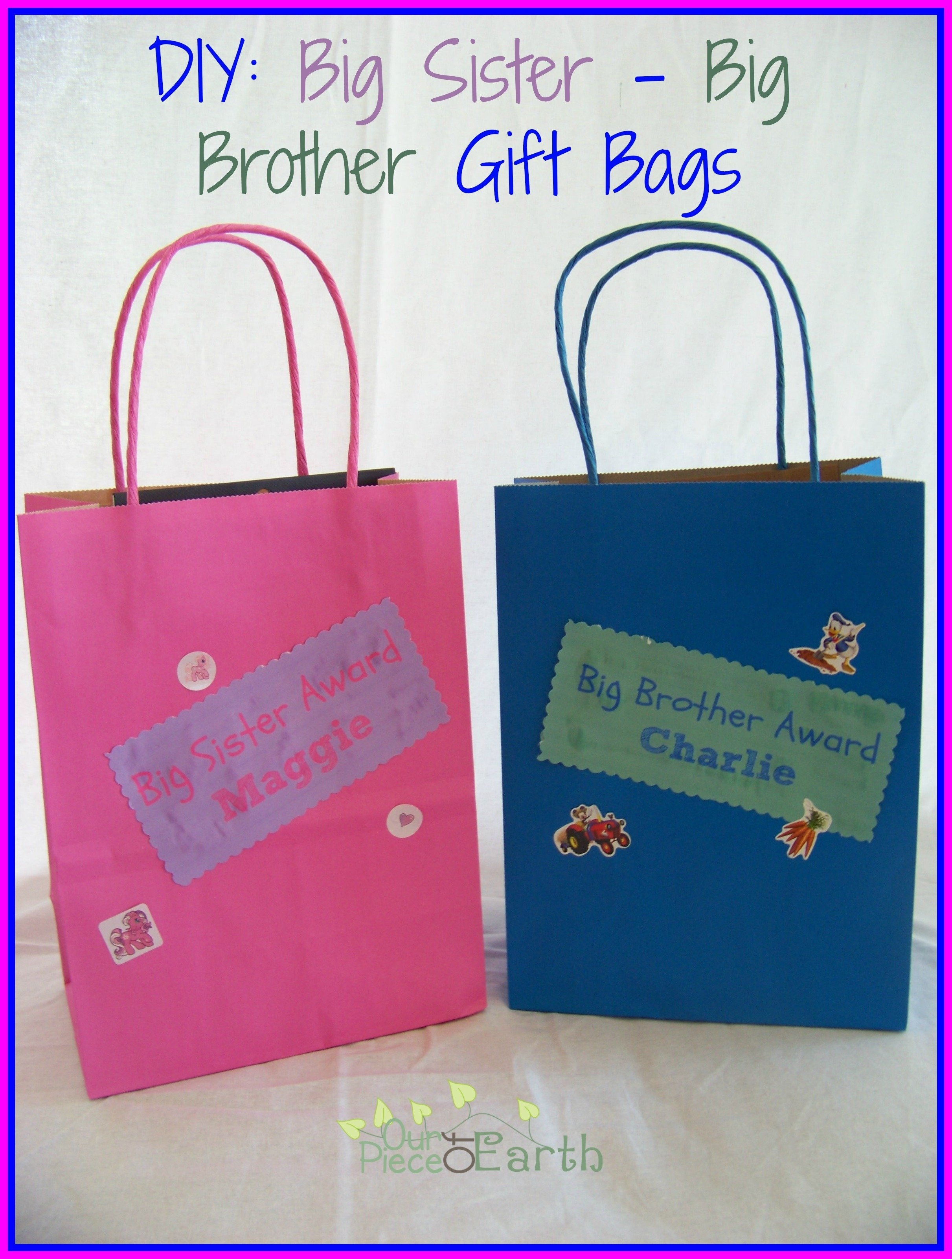 10 Most Popular Gift Ideas For Sister From Brother big sister big brother gift bags our piece of earth 5