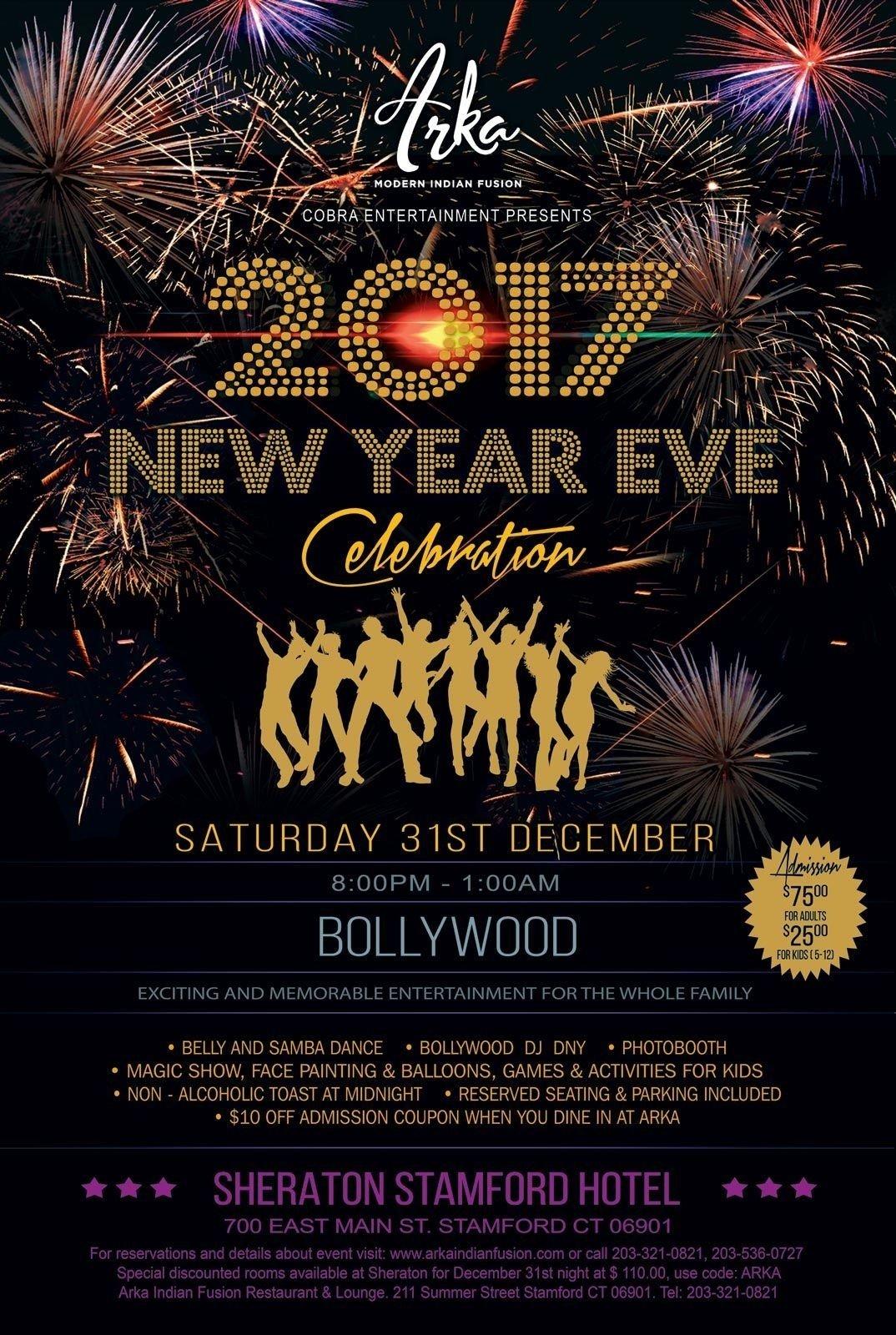 10 Unique New Years Eve Ideas Nj biggest and premium desi 2017 new year eve celebration at sheraton 2020