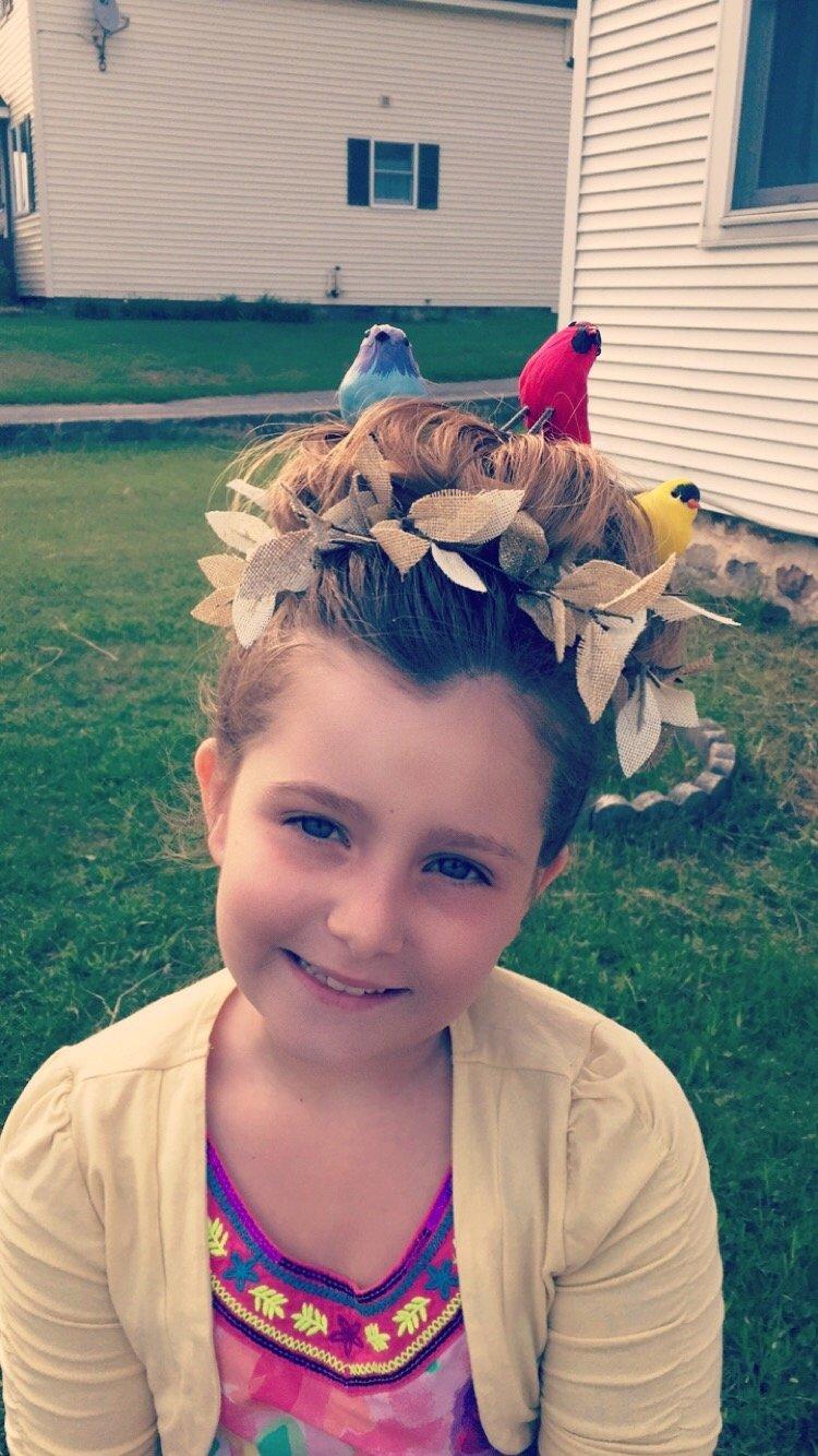 10 Famous Wacky Hair Day Ideas For School birds nest for crazy hair day at school hair ideas pinterest