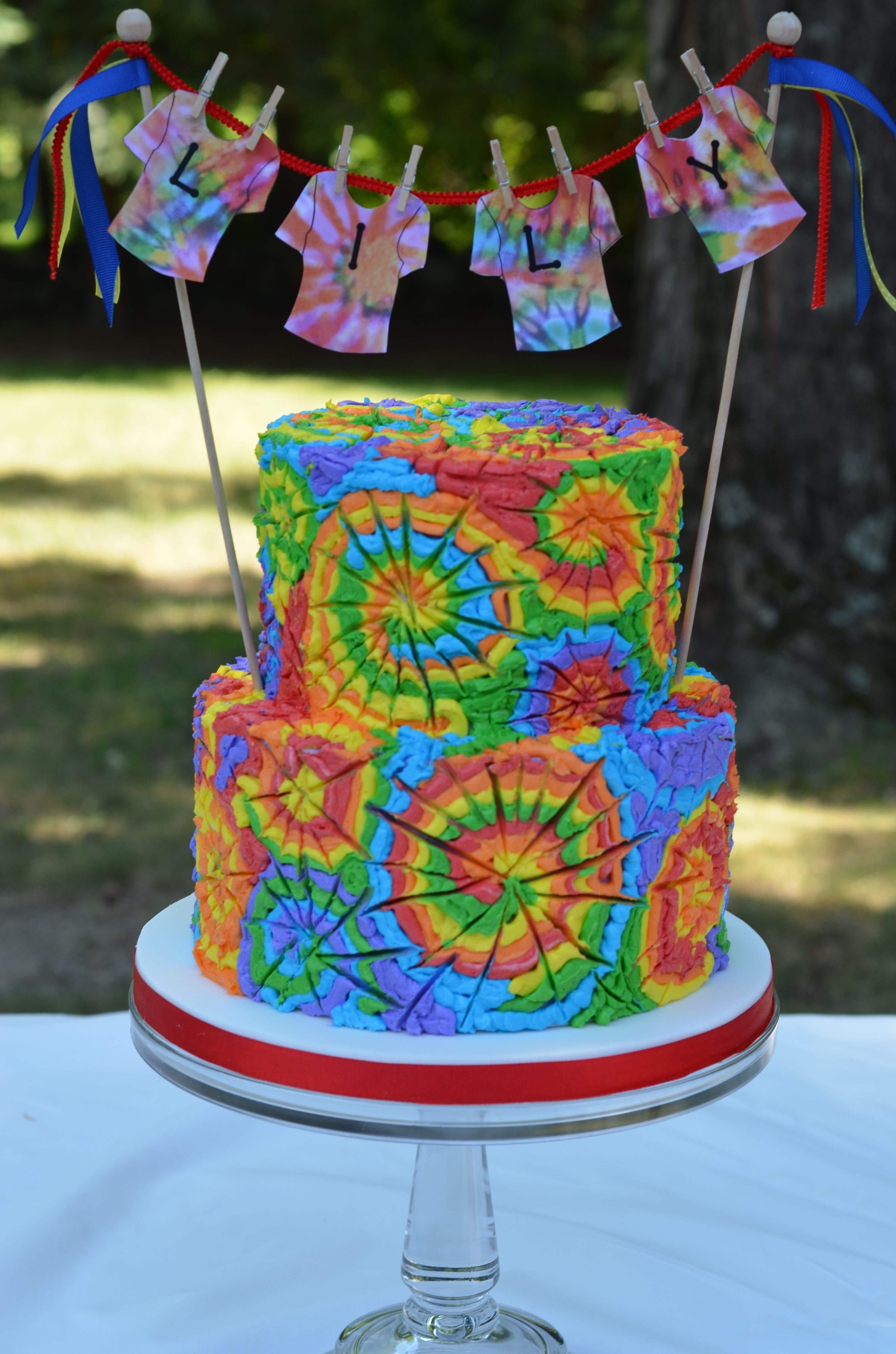 10 Most Recommended Tie Dye Birthday Party Ideas birthday cakes i made this cake for a tie dye birthday party the
