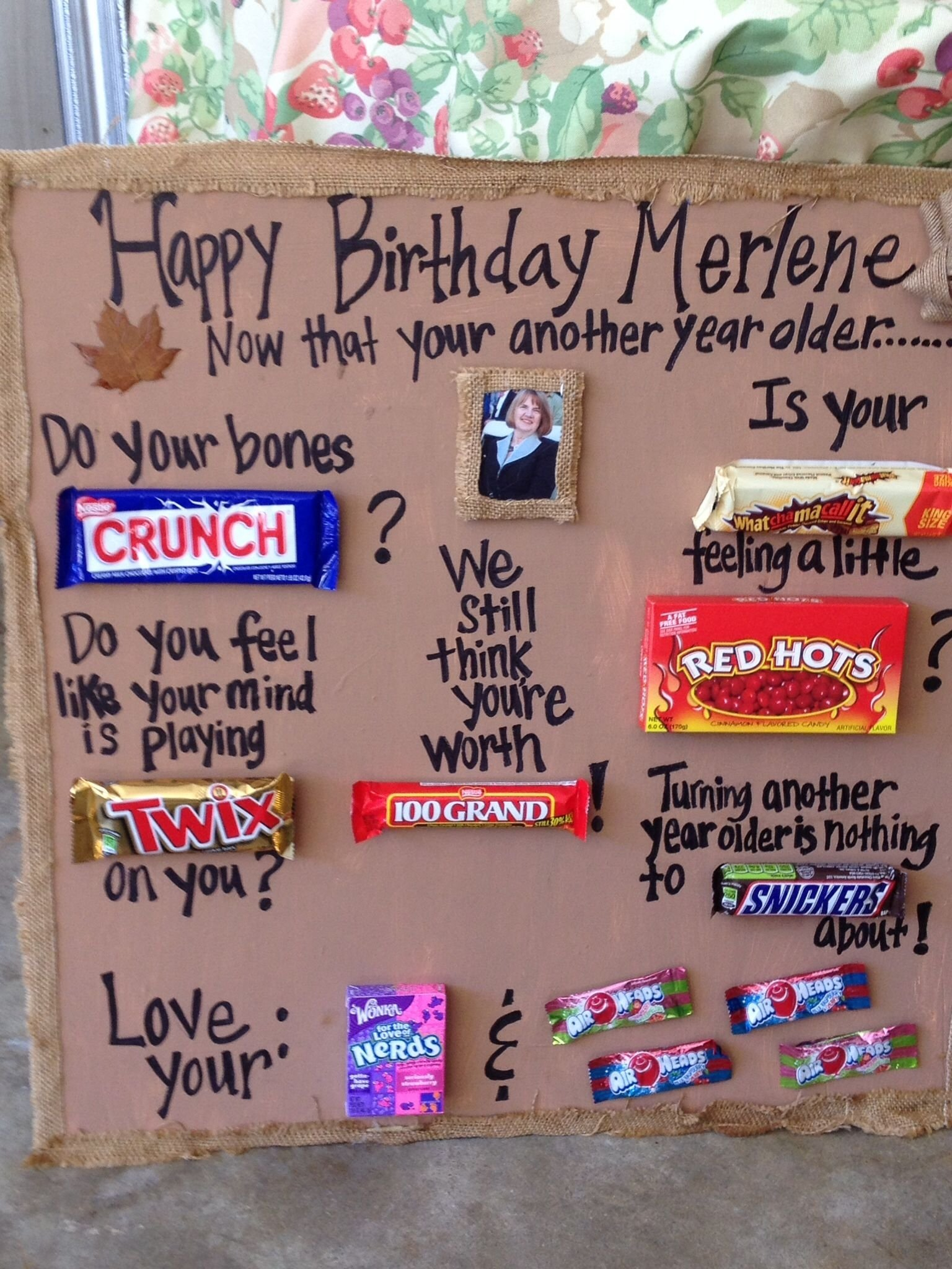 10 Perfect 80Th Birthday Gift Ideas For Dad Candy Bar Poem 80th