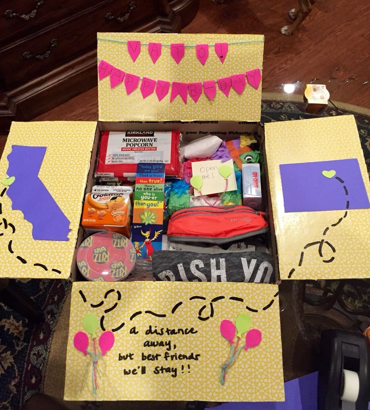 birthday care package for a best friend. @gigi gonzalez | best