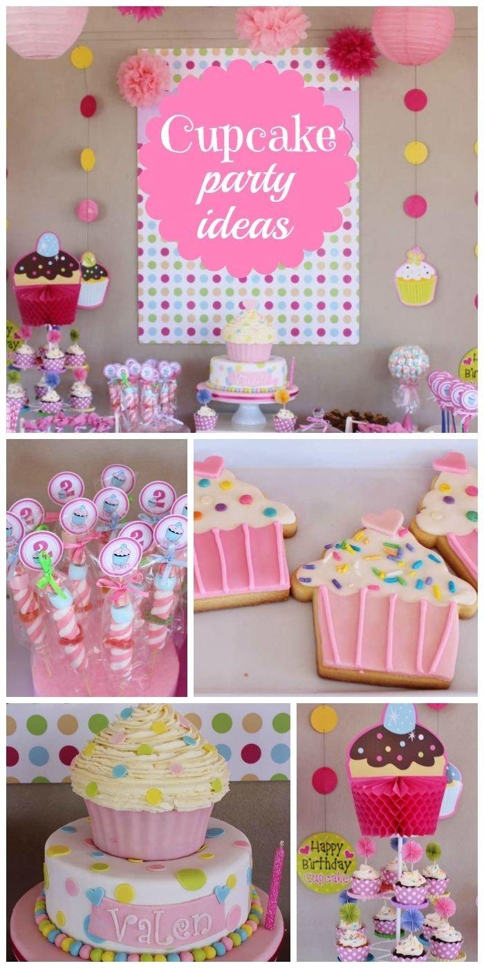 10 Fantastic Cupcake Themed Birthday Party Ideas Cupcakes Fun Girl Decoration And Birthdays