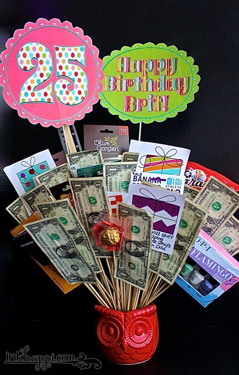 10 Wonderful 25Th Birthday Gift Ideas For Her birthday gift basket idea with free printables inkhappi 2 2020