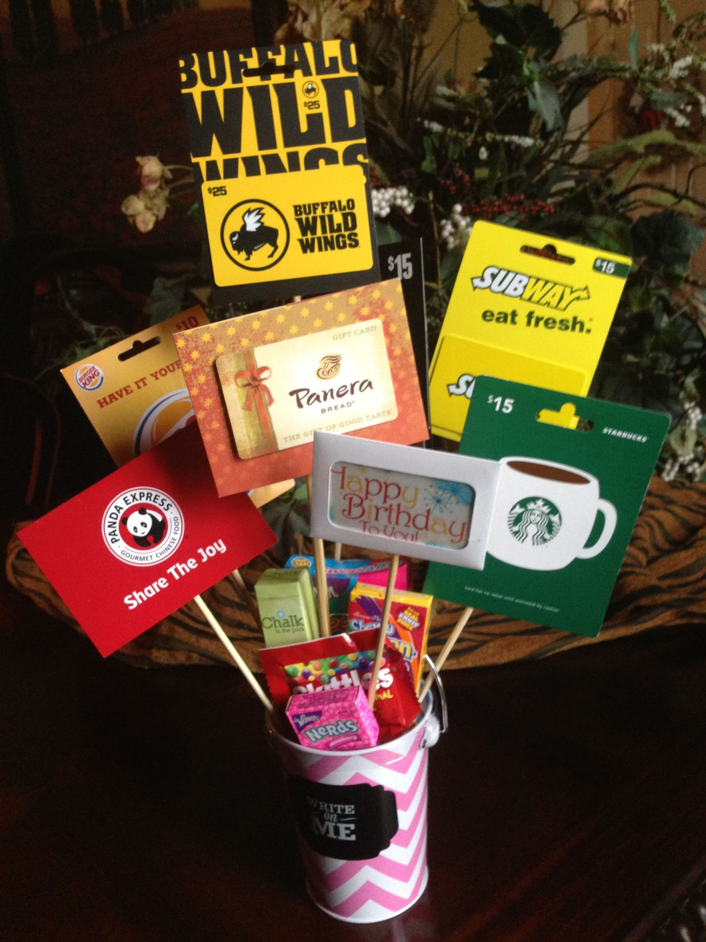 10 Best Gift Card Basket Ideas Birthday Bouquet For The Adult Or Teen