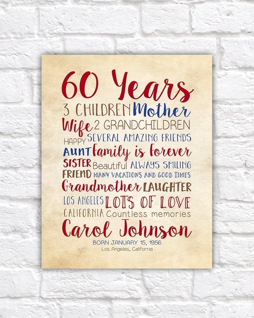 10 Wonderful Mom 60Th Birthday Gift Ideas birthday gift for mom 60th birthday 60 years old gift for dad 2 2020