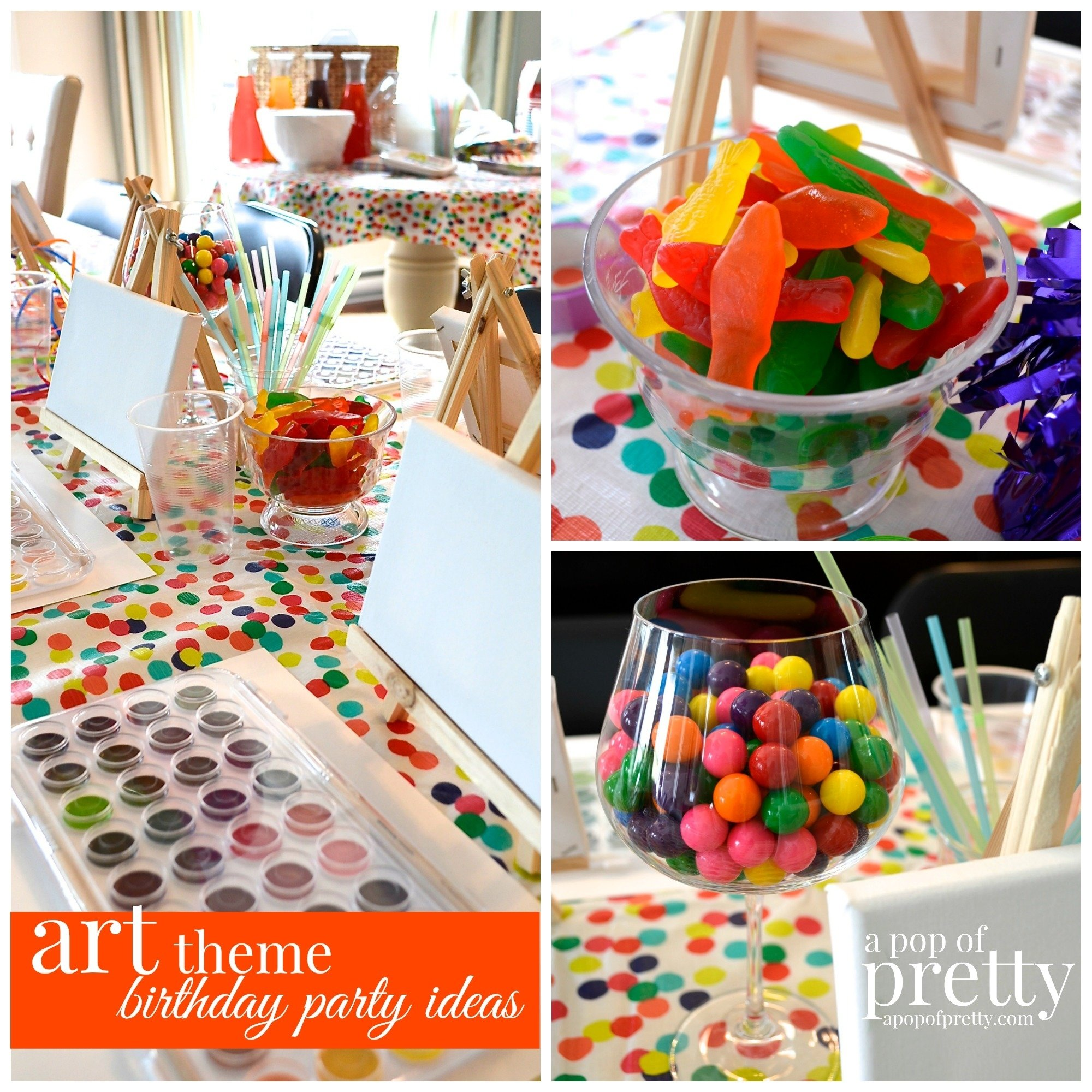 10 Fabulous Fun Party Ideas For Teens birthday ideas fun art theme party for girls art themes color 1 2021