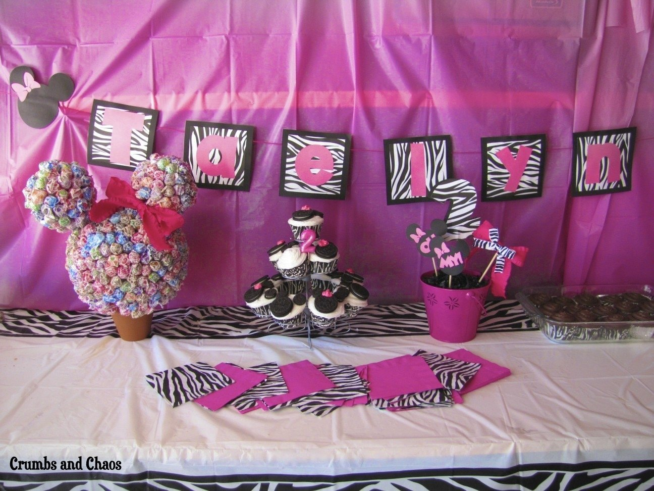 10 Ideal Minnie Mouse Party Ideas Pinterest birthday parties the minnie mouse crumbs and chaos 1
