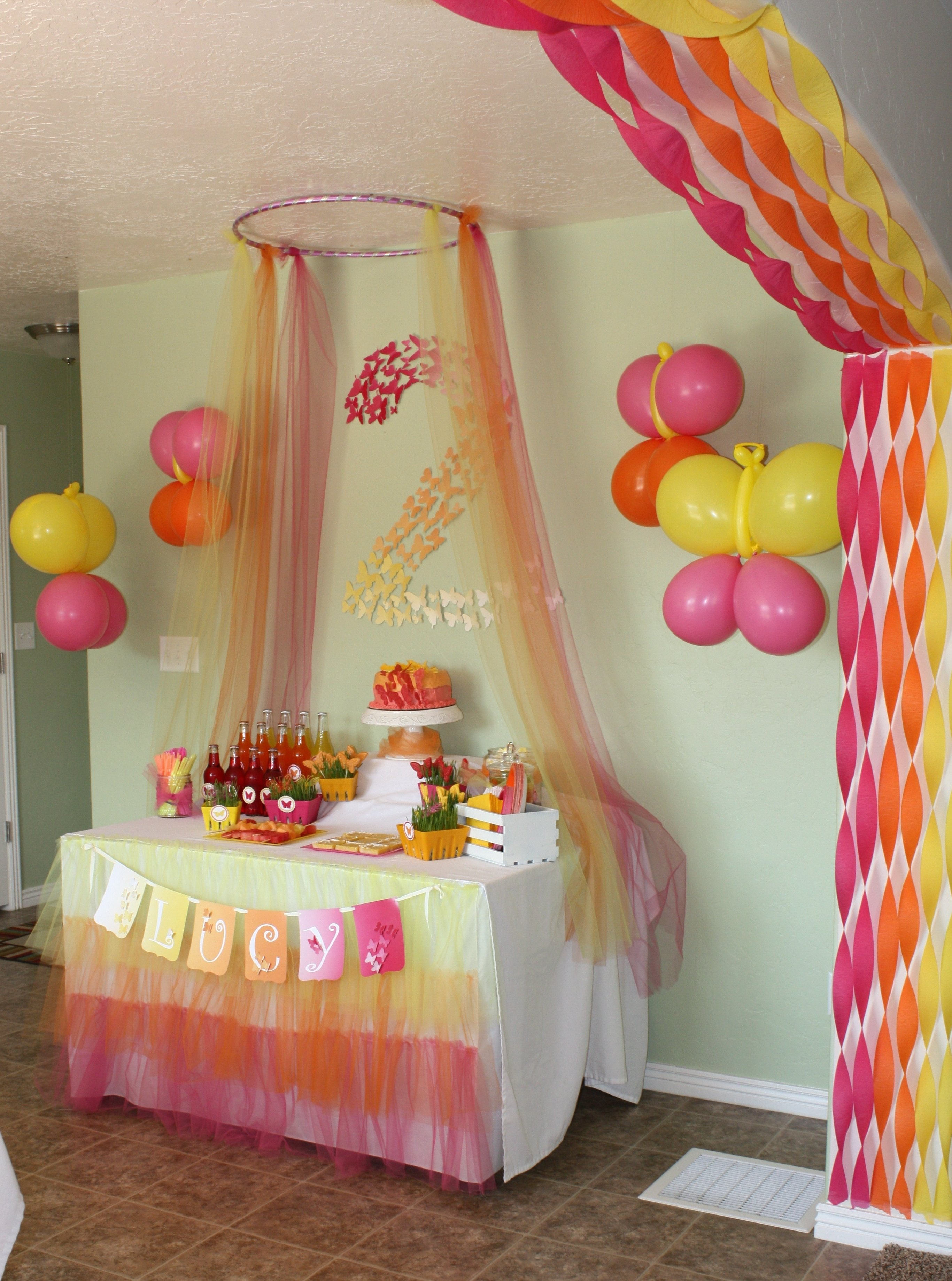 10 Stunning Decorating Ideas For A Birthday Party birthday party decoration ideas nice butterfly themed decorations