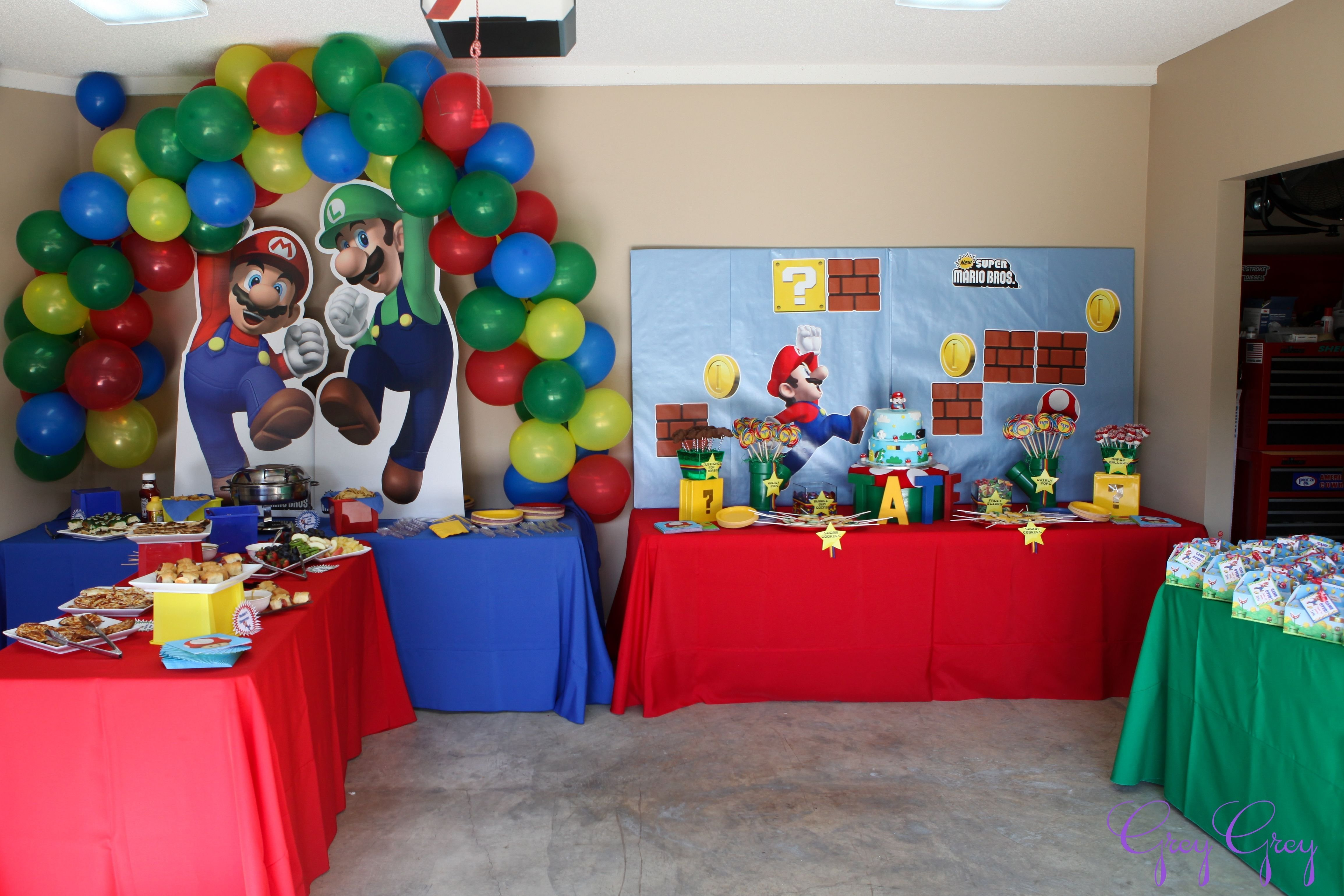 10 Spectacular Mario Brothers Birthday Party Ideas birthday party ideas backdrops super mario party and balloon backdrop 1 2020