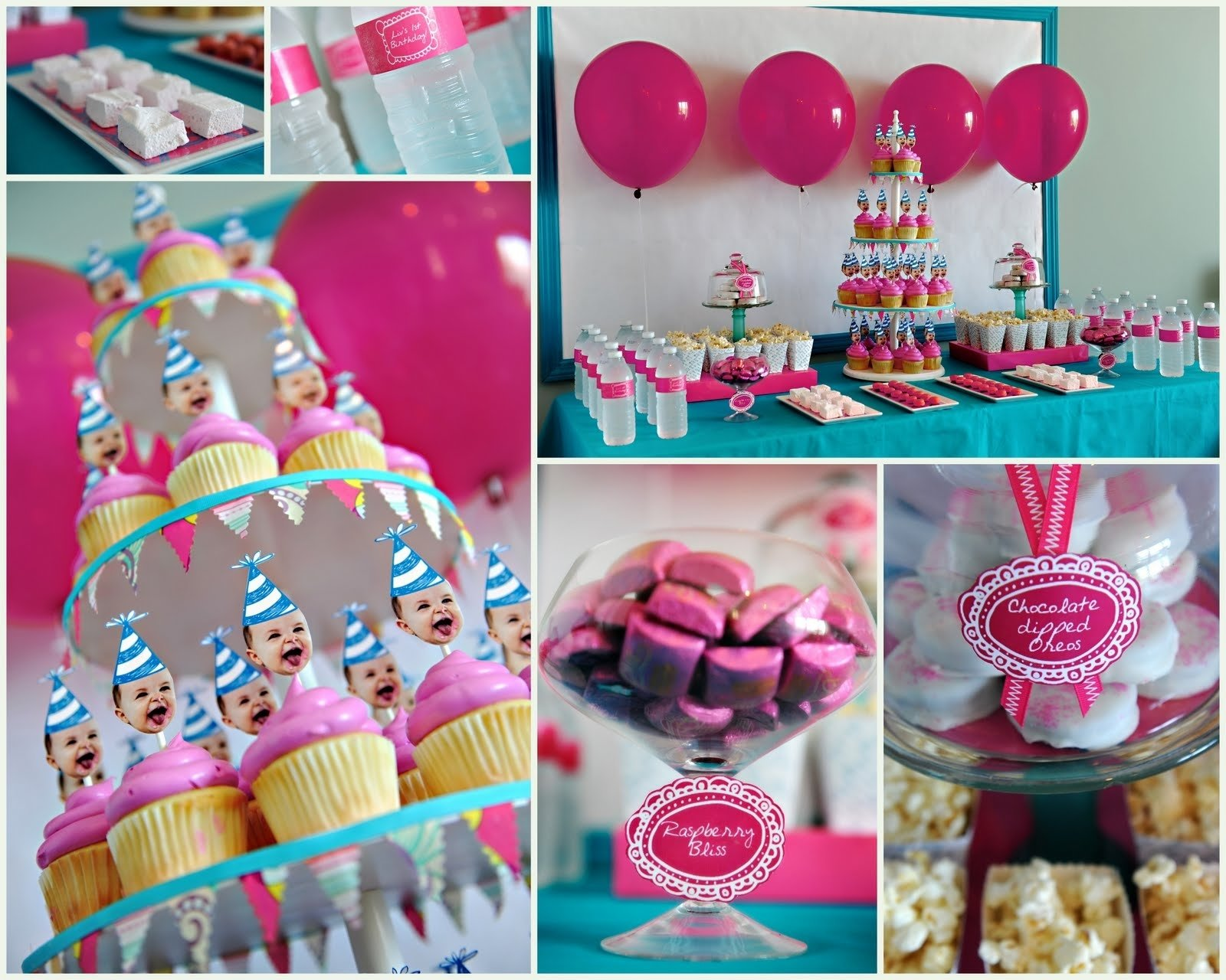 10 Stylish 1St Birthday Party Decoration Ideas birthday party ideas with balloon and cupcake lets party 7