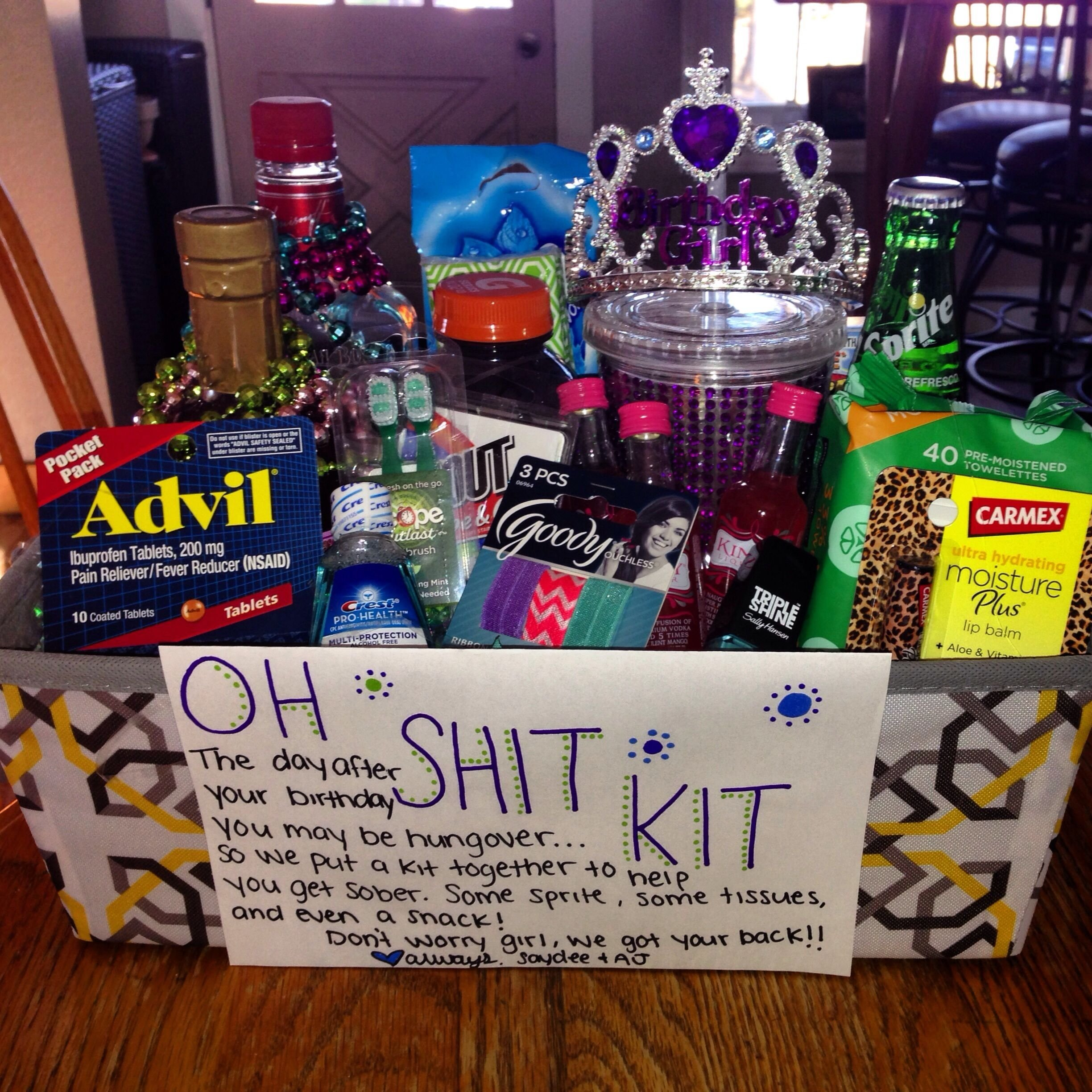 birthday present for my girlfriends 21 st birthday ! #21 #ohshitkit