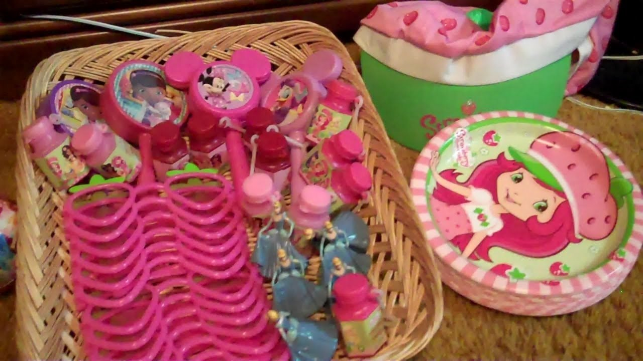 birthday presents (and party favors) for a 4 year old girl - youtube