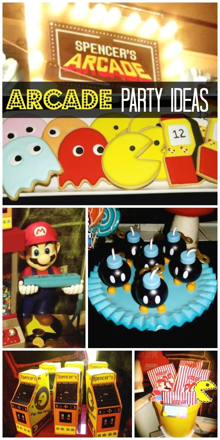 10 Lovely Video Game Birthday Party Ideas birthday retro arcade boy birthday arcade and video games 2020