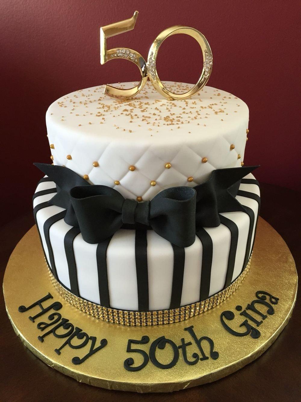 10 Wonderful Ideas For 50Th Birthday Cake black and gold 50th birthday cake birthday cakes pinterest 1 2020