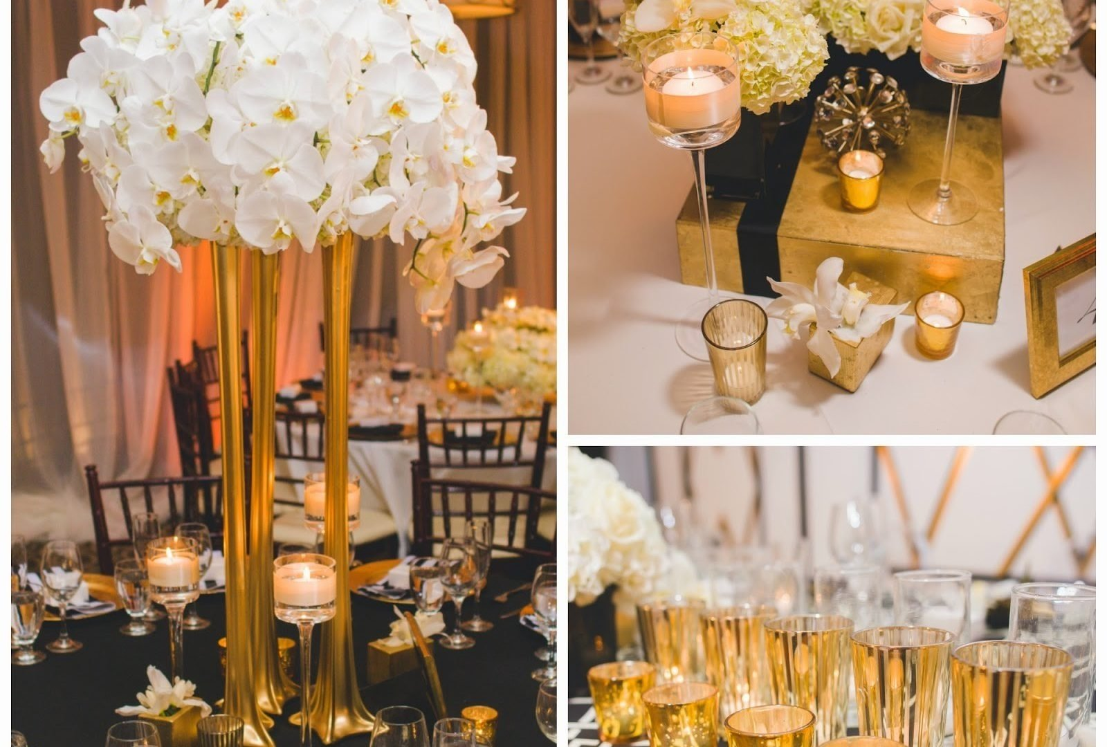 10 Most Recommended Black And Gold Centerpiece Ideas black and gold wedding reception decorations inspirational dreams 2020