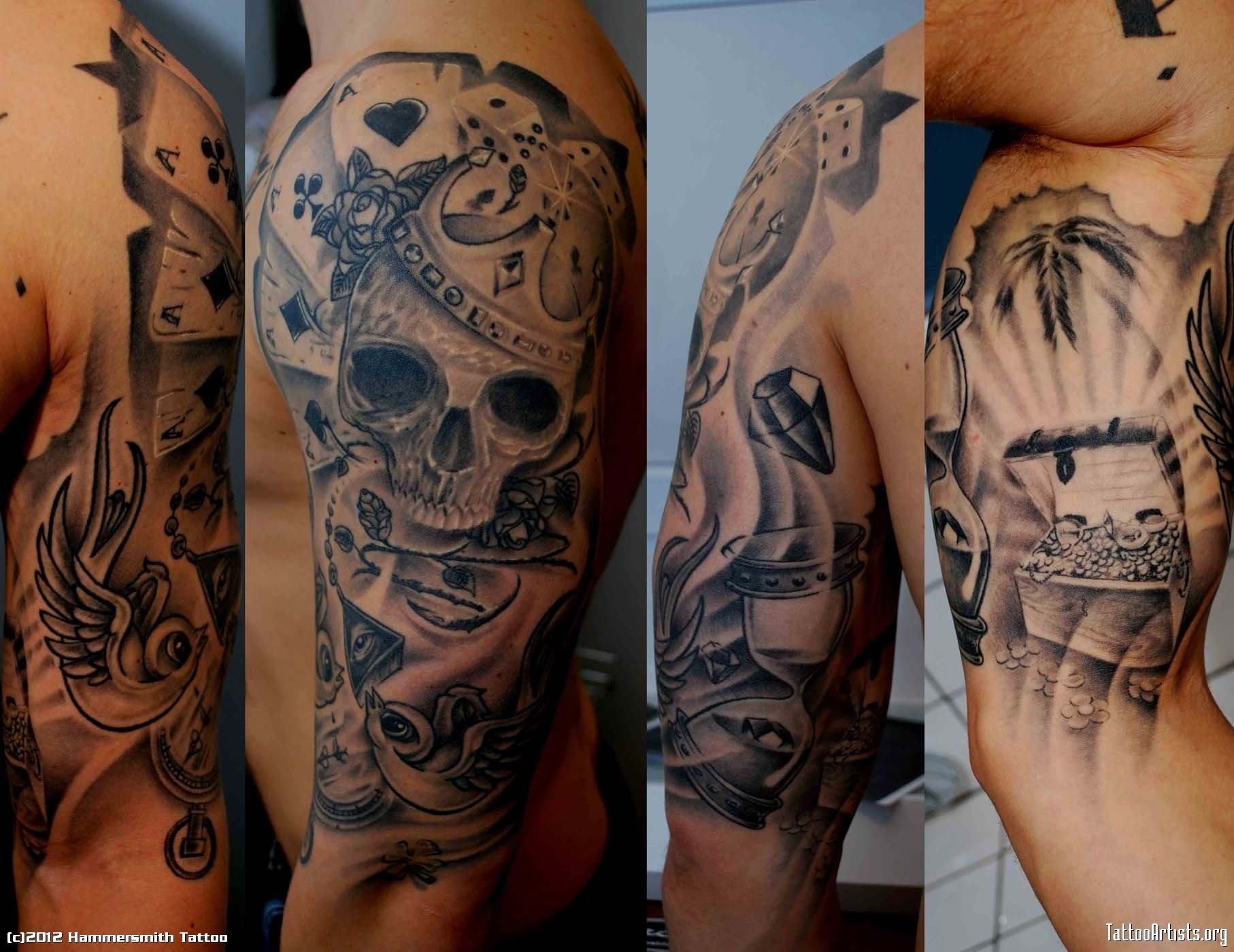 black and grey koi fish sleevefull tattoo sleeves - google search