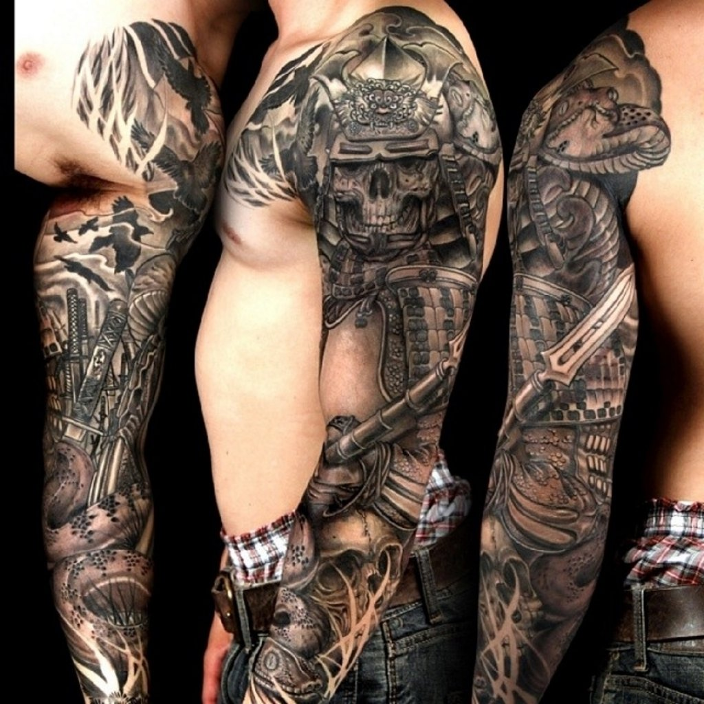 10 Lovely Tattoo Sleeve Ideas For Men Black And Grey black and grey mens tattoos tattoo sleeve ideas for men black and 2021