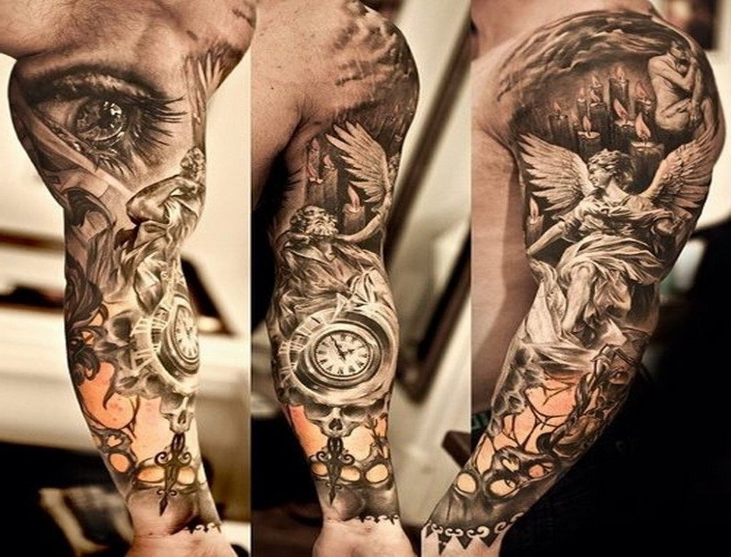 10 Perfect Black And Grey Sleeve Tattoo Ideas