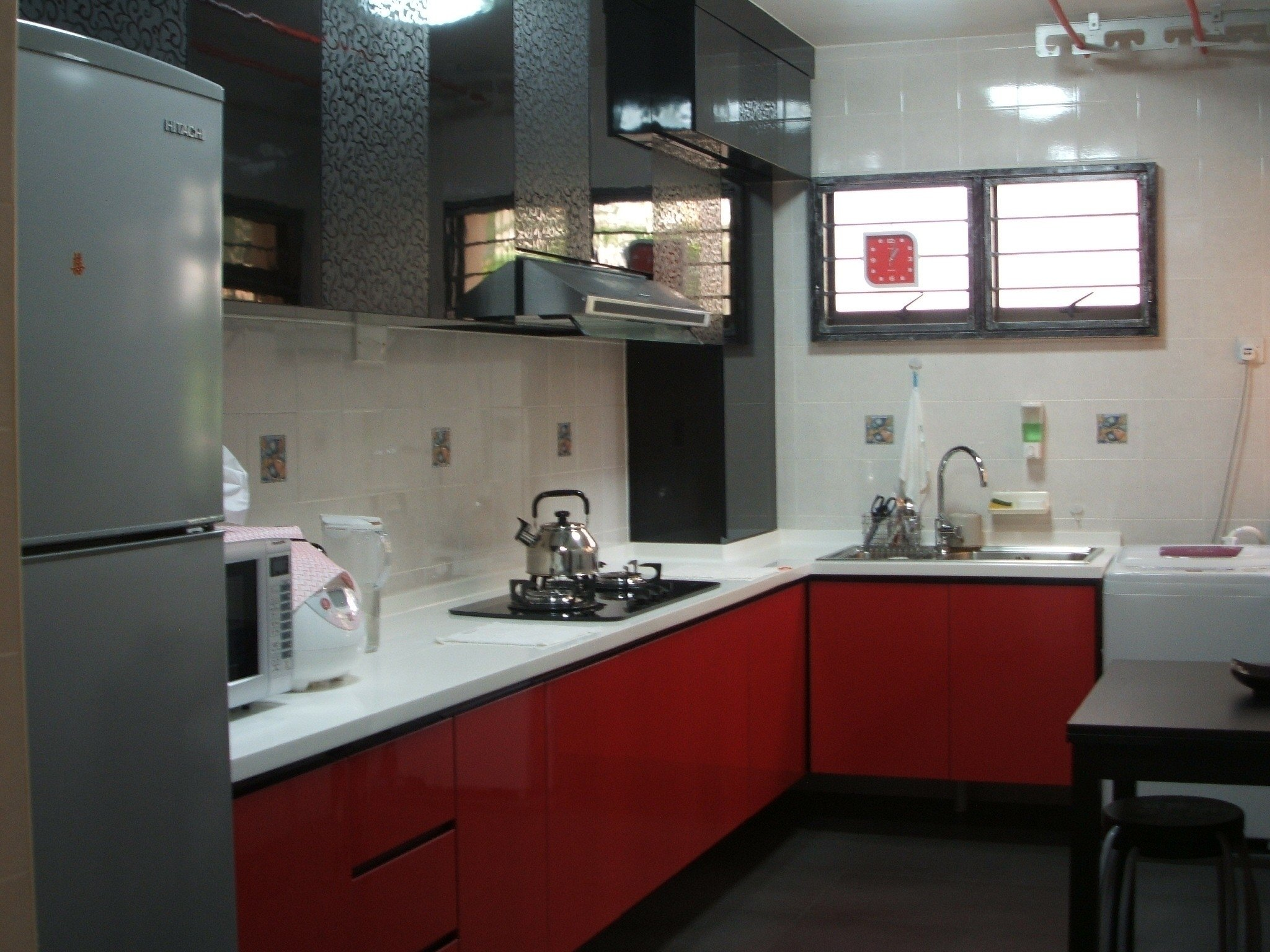 10 Attractive Red And Black Kitchen Ideas black and red kitchen designs lovely kitchen simple cool amusing red 2021