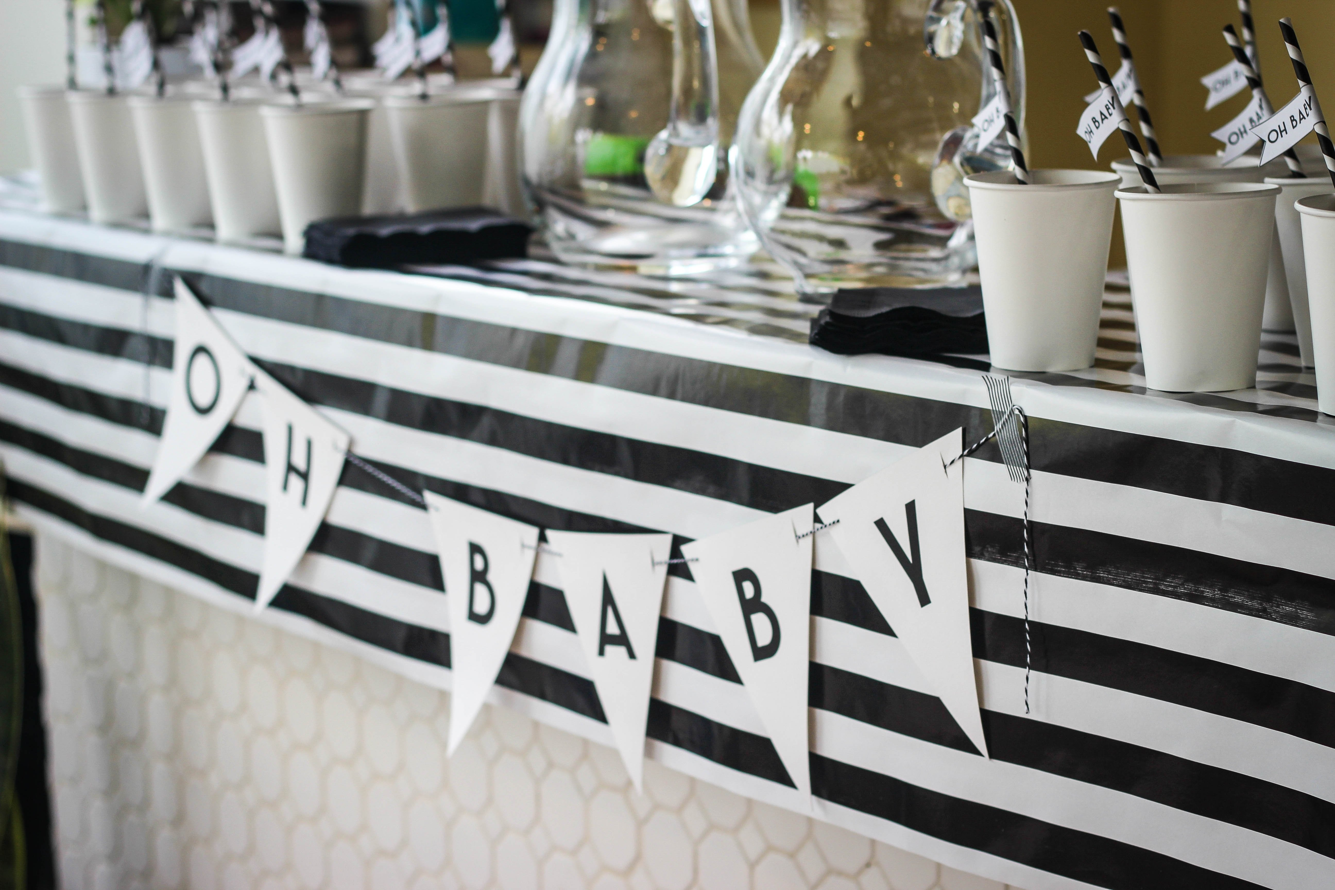 10 Great Black And White Baby Shower Ideas black and white baby shower themes e280a2 baby showers ideas 2021
