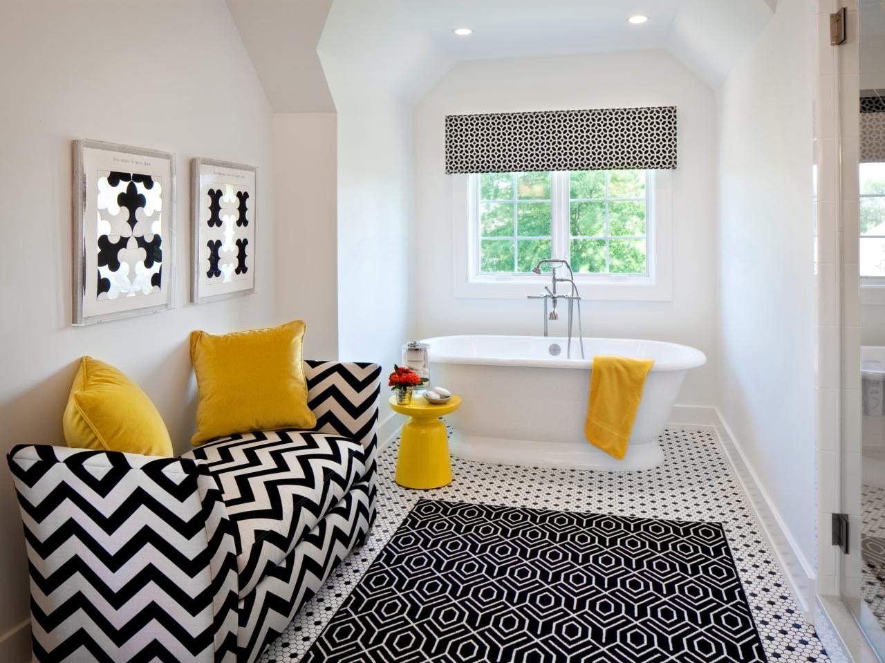 black and white bathroom decor ideas + hgtv pictures | hgtv