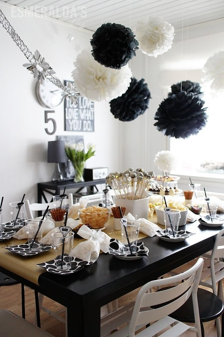 10 Unique Black And White Party Decorations Ideas black and white birthday party esmeraldas party decoration 1