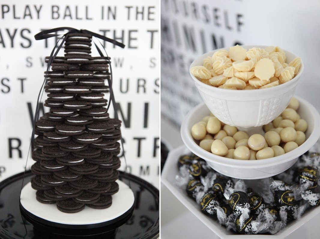 10 Perfect Black And White Food Ideas black and white dessert table ideas desserts in a jar arejacki 2020