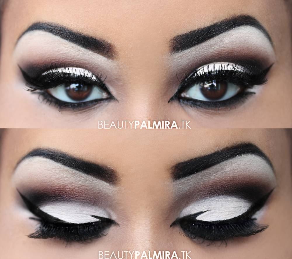 10 Perfect Black And White Makeup Ideas black and white eyeshadow makeup easy makeup ideas 2020