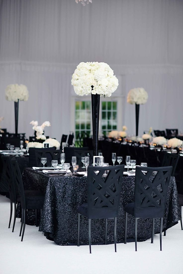 10 Awesome Black And White Centerpiece Ideas black and white modern wedding with unique details in cincinnati 2021