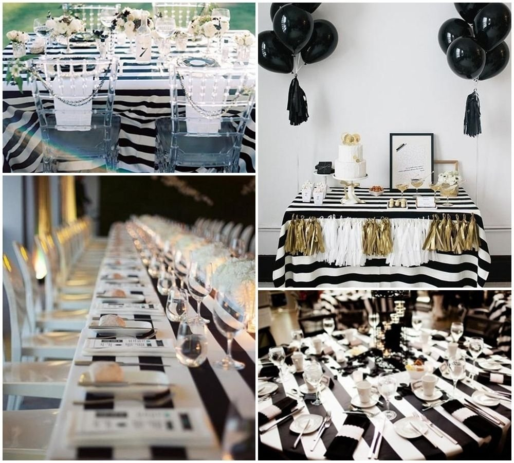 10 Stylish Black And White Party Decoration Ideas black and white party table decorations ideas party pinterest 1 2020