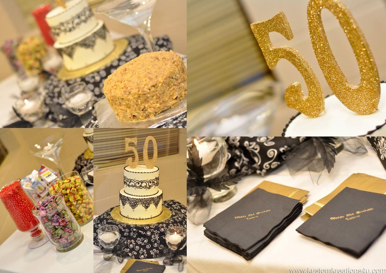 10 Stylish Party Ideas For 50Th Birthday black gold 20s theme 50th birthday celebration kustom kreations 2