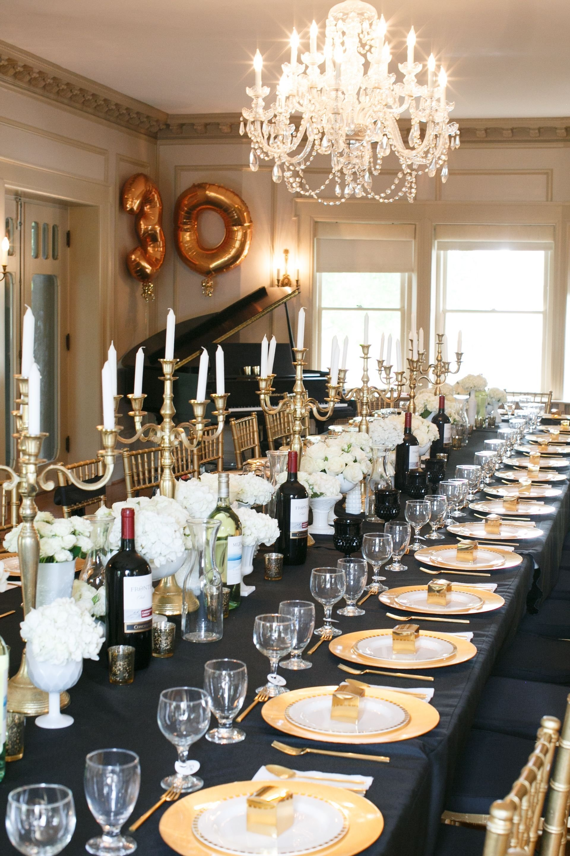 10 Awesome Adult 30Th Birthday Party Ideas black gold 30th birthday party 30 birthday parties 30 birthday 2020