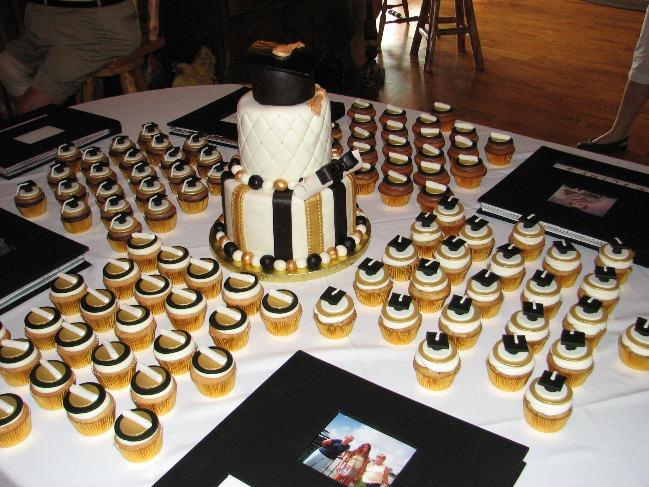 10 Perfect Black And White Food Ideas black gold white graduation cake graduation ideas pinterest 2020