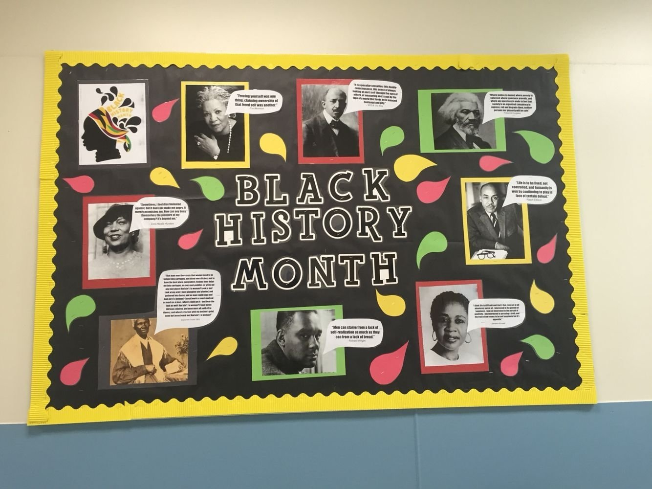 10 Lovely Bulletin Board Ideas For Black History Month black history month bulletin board nailed it pinterest black 1
