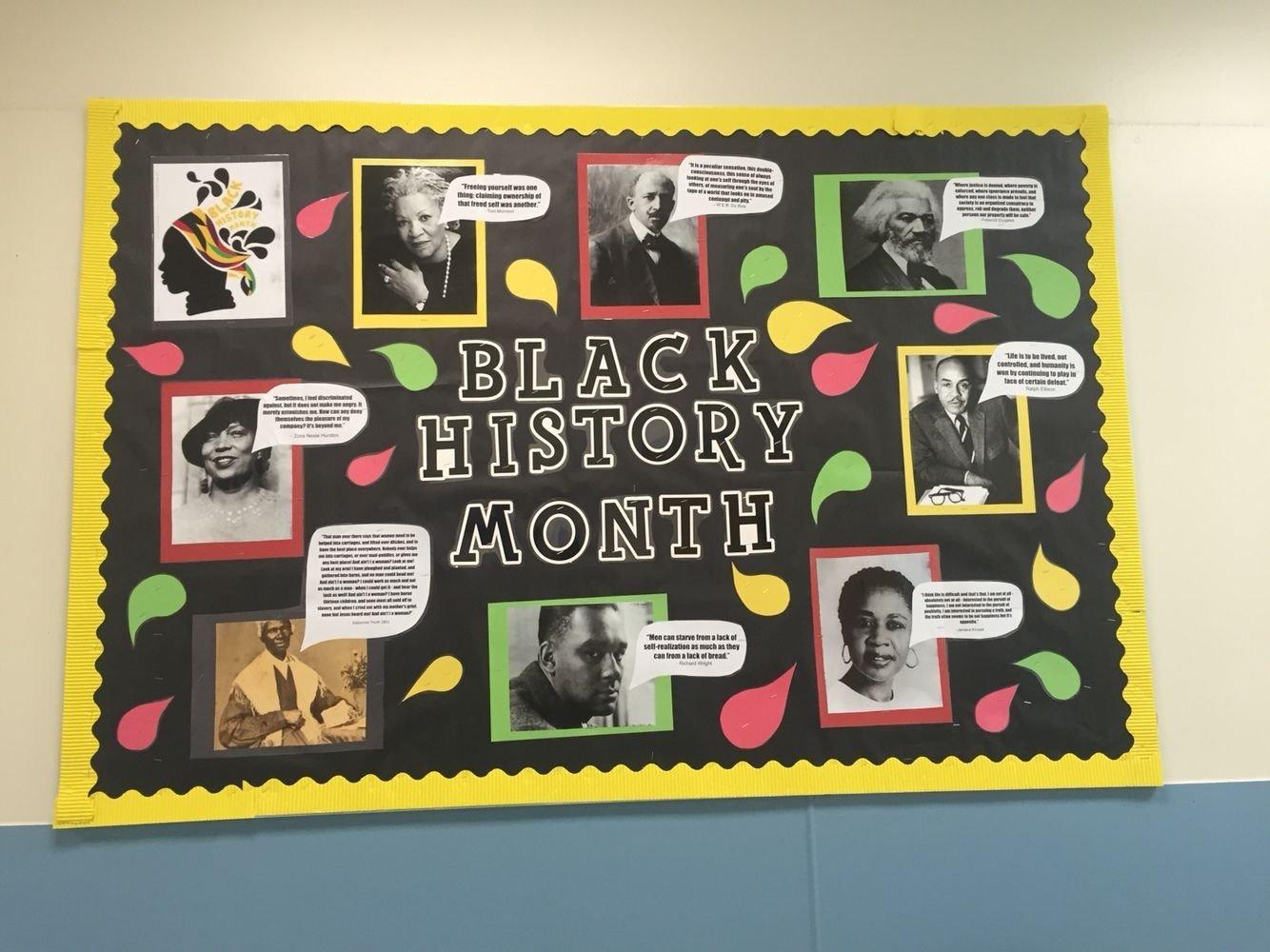10 Unique Black History Bulletin Board Ideas black history month bulletin board nailed it pinterest black 2 2020