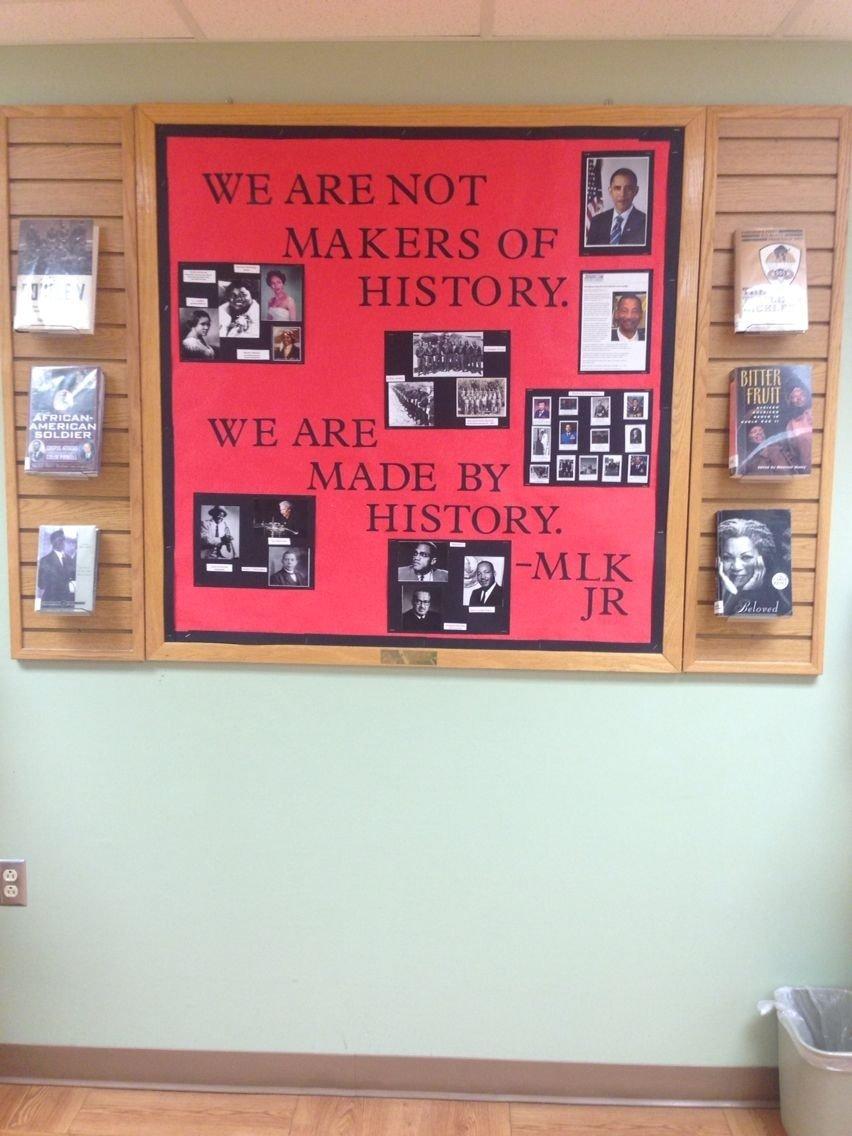 10 Unique Black History Bulletin Board Ideas black history month library bulletin board library displays 2 2020